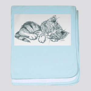 Sleeping Kitten baby blanket