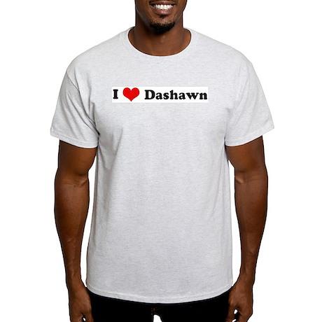 I Love Dashawn Ash Grey T-Shirt