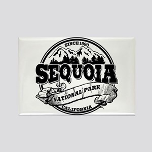 Sequoia Old Circle Rectangle Magnet