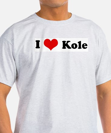 I Love Kole Ash Grey T-Shirt