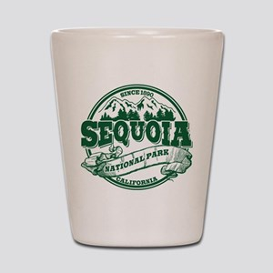 Sequoia Old Circle Green Shot Glass