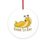 Banana Slug Babe Ornament (Round)