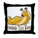 Banana Slug Babe Throw Pillow