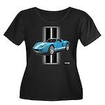 New Racing Car Women's Plus Size Scoop Neck Dark T
