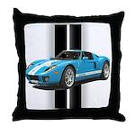 New Racing Car Throw Pillow