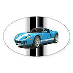 New Racing Car Sticker (Oval 50 pk)