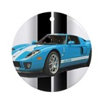 New Racing Car Ornament (Round)