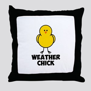 Weather Chick Throw Pillow