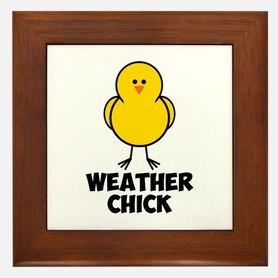 Weather Chick Framed Tile