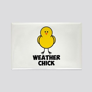 Weather Chick Rectangle Magnet