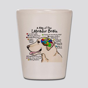 Yellow Labrador Brain Atlas Shot Glass