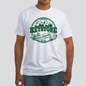 Keystone Old Circle 3 Green Fitted T-Shirt