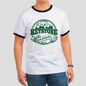 Keystone Old Circle 3 Green Ringer T