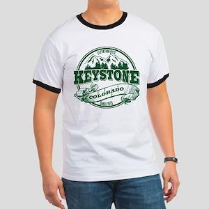 Keystone Old Circle 3 Green Ringer T