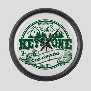 Keystone Old Circle 3 Green Large Wall Clock