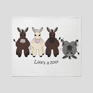 Med. Miniature Donkey Throw Blanket