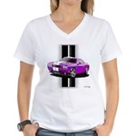 New Dodge Challenger Women's V-Neck T-Shirt