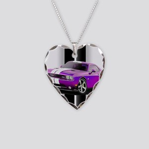 New Dodge Challenger Necklace Heart Charm
