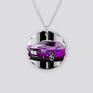 New Dodge Challenger Necklace Circle Charm
