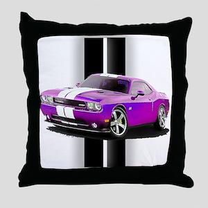 New Dodge Challenger Throw Pillow