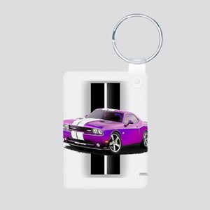 New Dodge Challenger Aluminum Photo Keychain