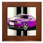 New Dodge Challenger Framed Tile