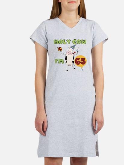 Cow 65th Birthday Women's Nightshirt