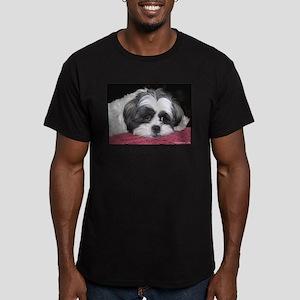 Cute Shih Tzu Dog Men's Fitted T-Shirt (dark)
