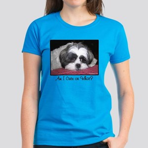 Cute Shih Tzu Dog Women's Dark T-Shirt