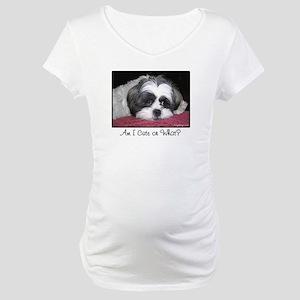 Cute Shih Tzu Dog Maternity T-Shirt