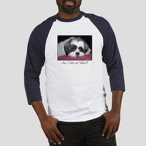 Cute Shih Tzu Dog Baseball Jersey