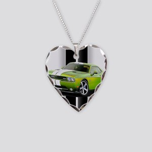 New Challenger Green Necklace Heart Charm