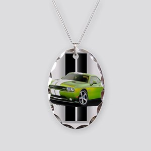 New Challenger Green Necklace Oval Charm