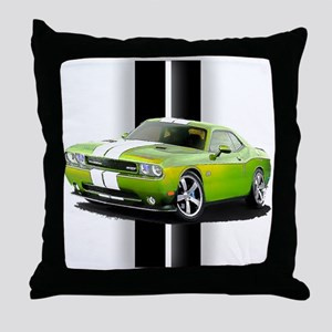 New Challenger Green Throw Pillow