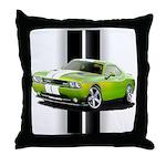 New Challenger Green Throw Pillow