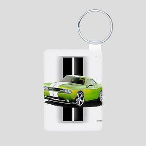 New Challenger Green Aluminum Photo Keychain