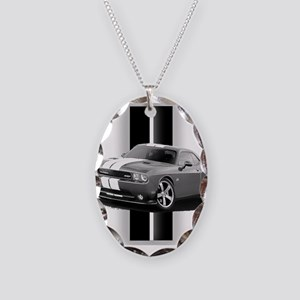 New Challenger Gray Necklace Oval Charm