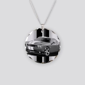 New Challenger Gray Necklace Circle Charm