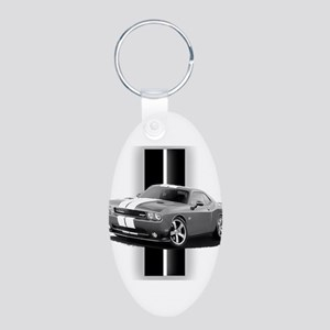 New Challenger Gray Aluminum Oval Keychain