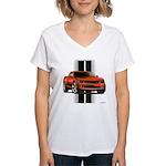 New Camaro Red Women's V-Neck T-Shirt