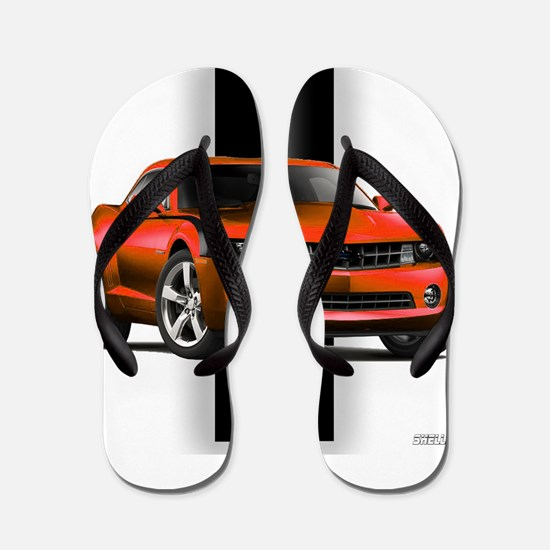 New Camaro Red Flip Flops