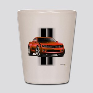 New Camaro Red Shot Glass