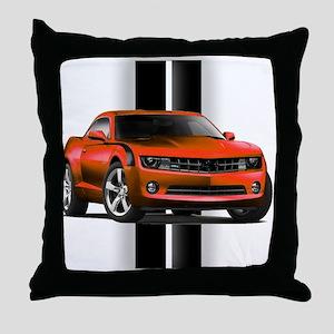 New Camaro Red Throw Pillow