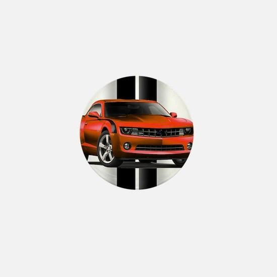 New Camaro Red Mini Button