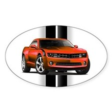 New Camaro Red Sticker (Oval)