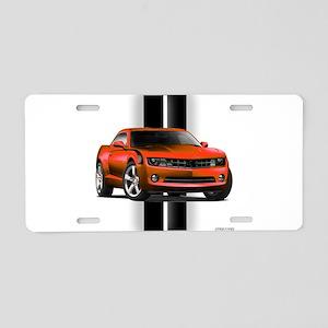 New Camaro Red Aluminum License Plate