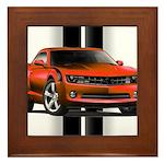 New Camaro Red Framed Tile