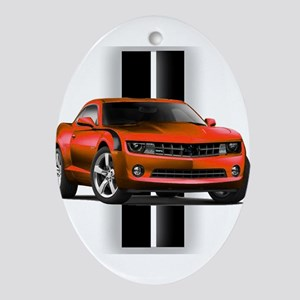 New Camaro Red Ornament (Oval)