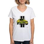 New Camaro Yellow Women's V-Neck T-Shirt