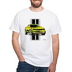 New Camaro Yellow White T-Shirt